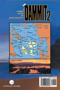 The Back Cover of Dammit 2 by Jerry Baggett. Now Available at Amazon.