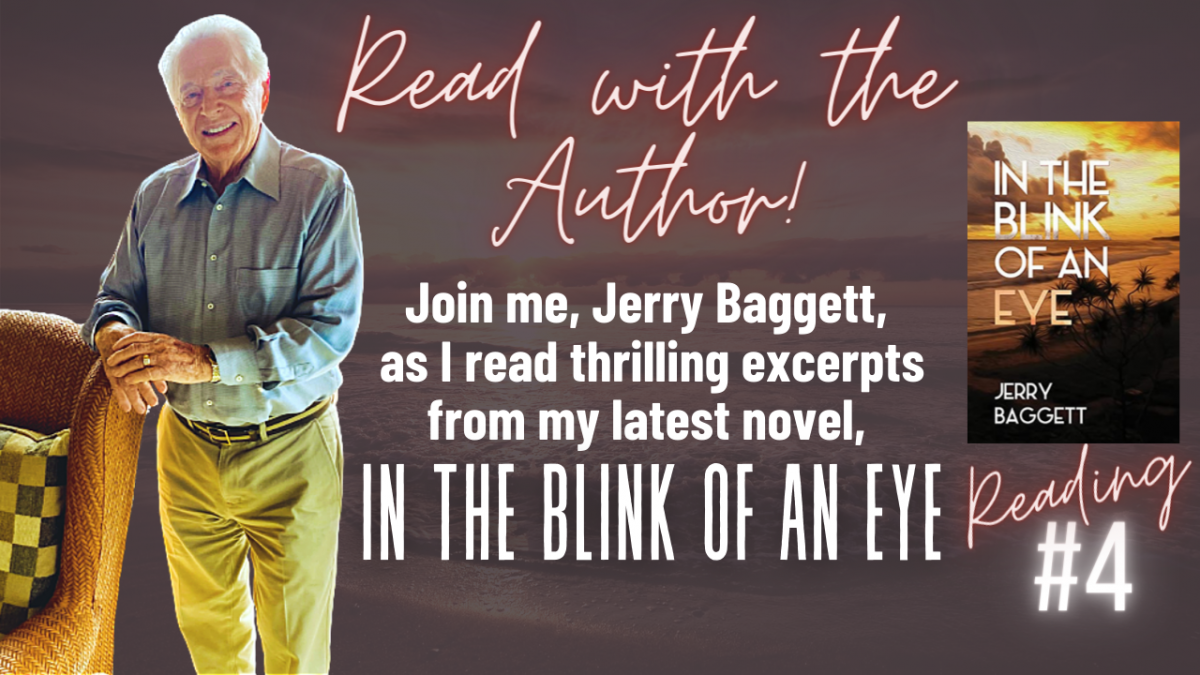 Author, Jerry Baggett's 4th reading of In the Blink of an Eye
