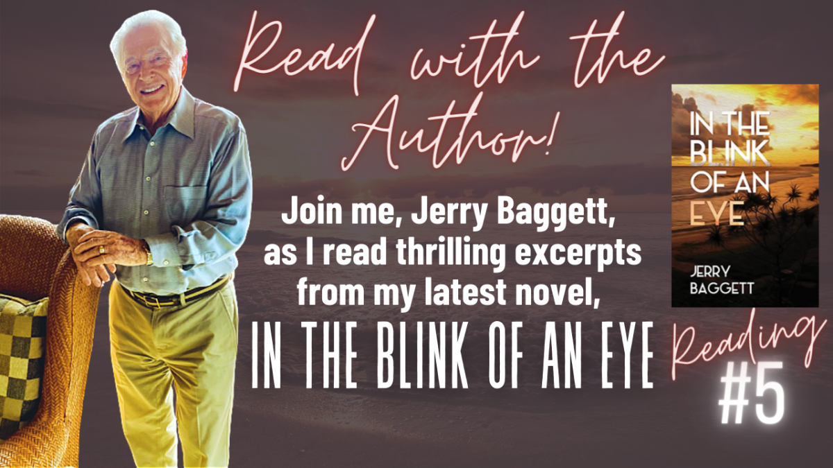Author, Jerry Baggett's 5th reading of In the Blink of an Eye
